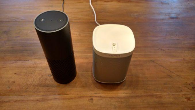 Klangvergleich Amazon Echo versus Sonos Play:1 Lautsprecher