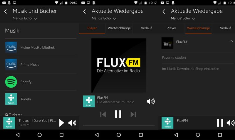 Amazon Echo TuneIn Favoriten festlegen