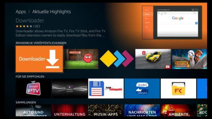 Amazon Fire TV Downloader App herunterladen und installieren