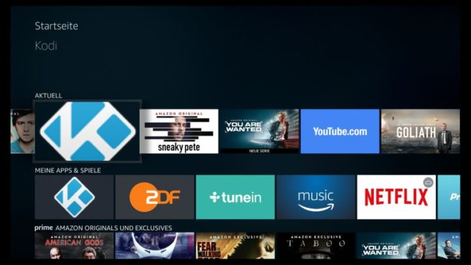 Amazon Fire TV Kodi Kachel