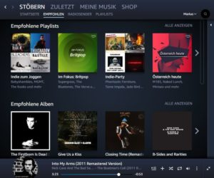 Amazon Music Unlimited Bedienung und Handhabung