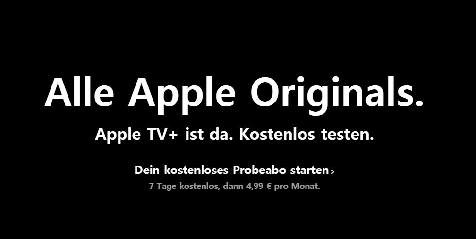 Apple TV+ kostenloses Probeabo